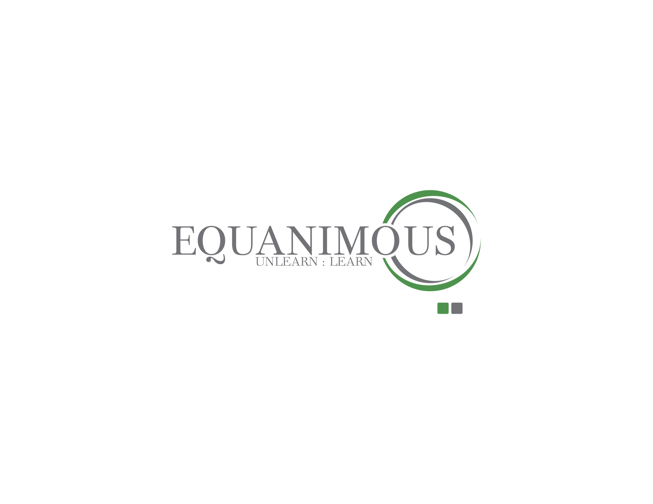 Logo Design by Private User - Entry No. 71 in the Logo Design Contest Logo Design : EQUANIMOUS : Productivity | Learning | Design.