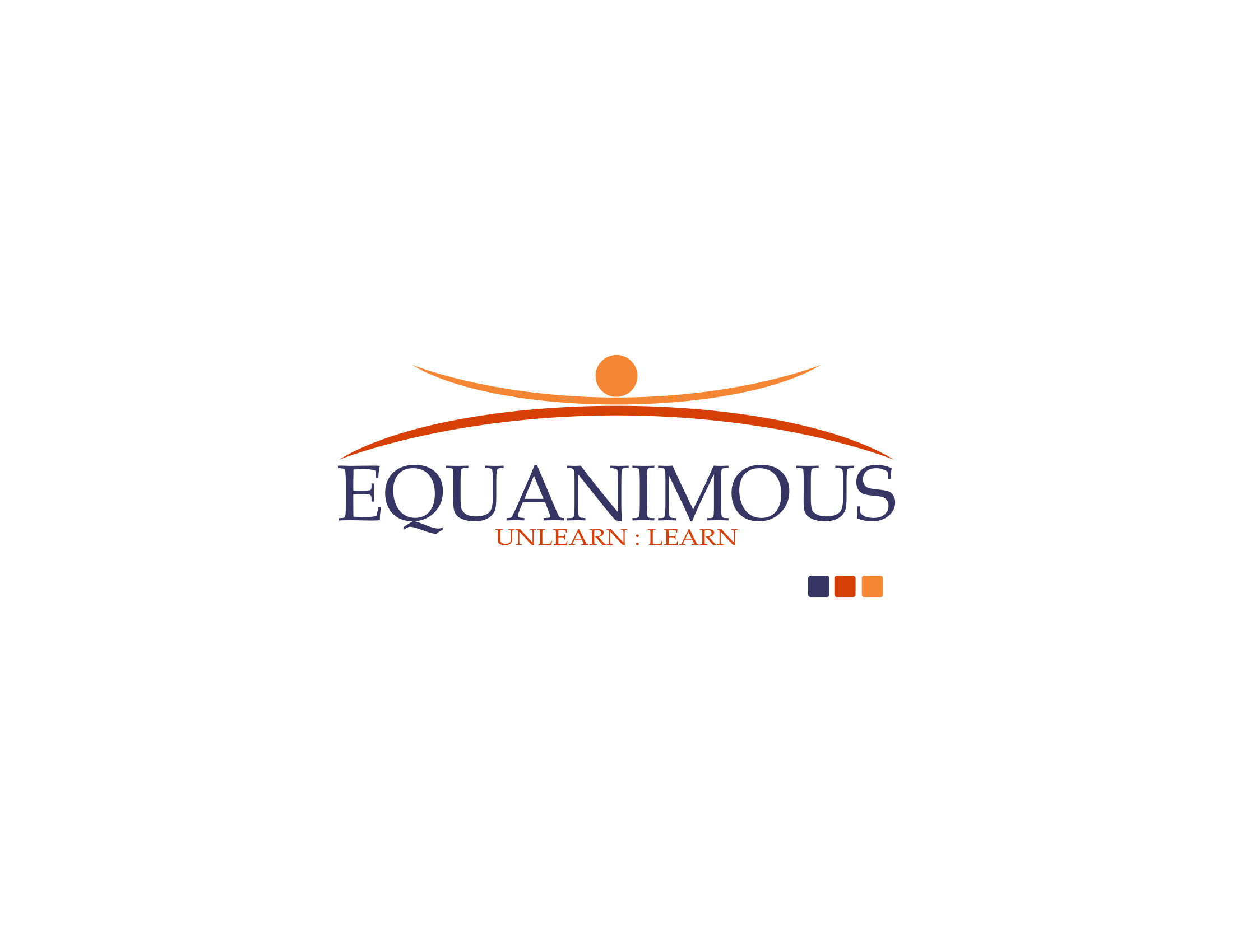 Logo Design by Private User - Entry No. 72 in the Logo Design Contest Logo Design : EQUANIMOUS : Productivity | Learning | Design.