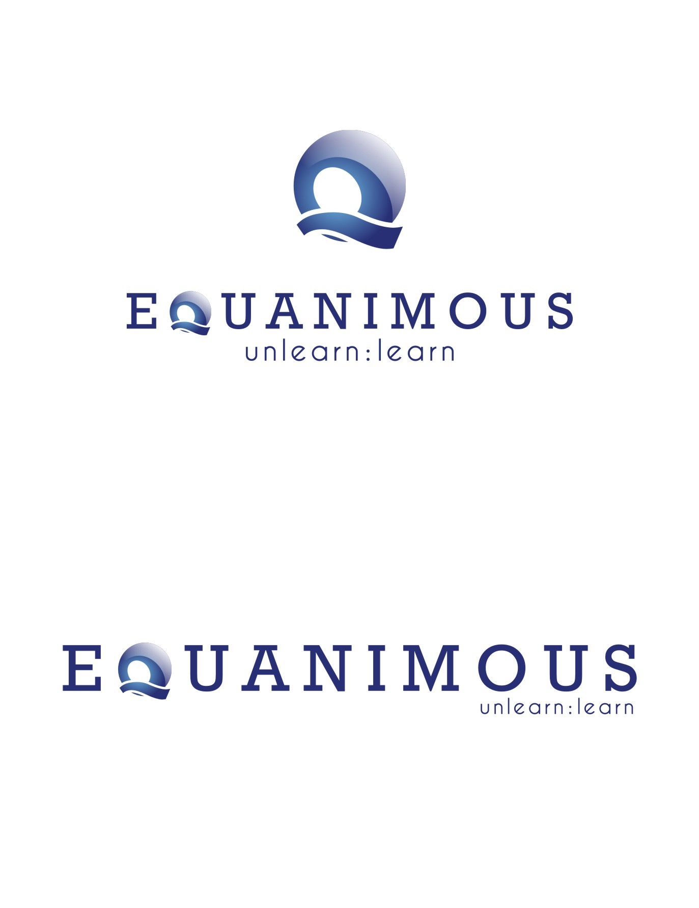 Logo Design by Private User - Entry No. 75 in the Logo Design Contest Logo Design : EQUANIMOUS : Productivity | Learning | Design.
