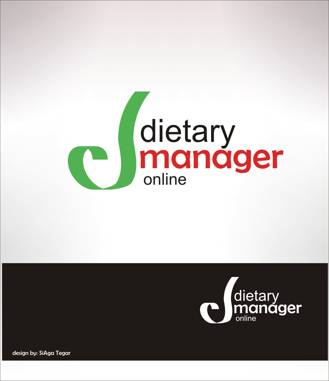 Logo Design by Siaga Tegar - Entry No. 22 in the Logo Design Contest Fun Logo Design for Dietary Manager Online.