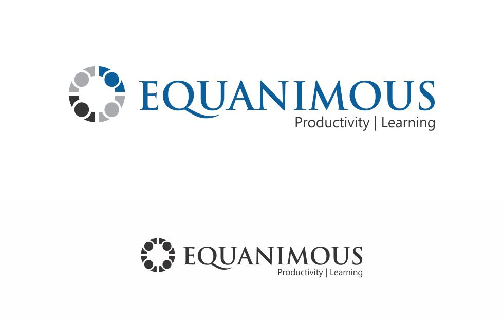 Logo Design by Muhammad Aslam - Entry No. 81 in the Logo Design Contest Logo Design : EQUANIMOUS : Productivity | Learning | Design.