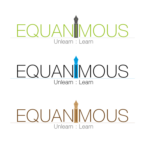Logo Design by Private User - Entry No. 92 in the Logo Design Contest Logo Design : EQUANIMOUS : Productivity | Learning | Design.