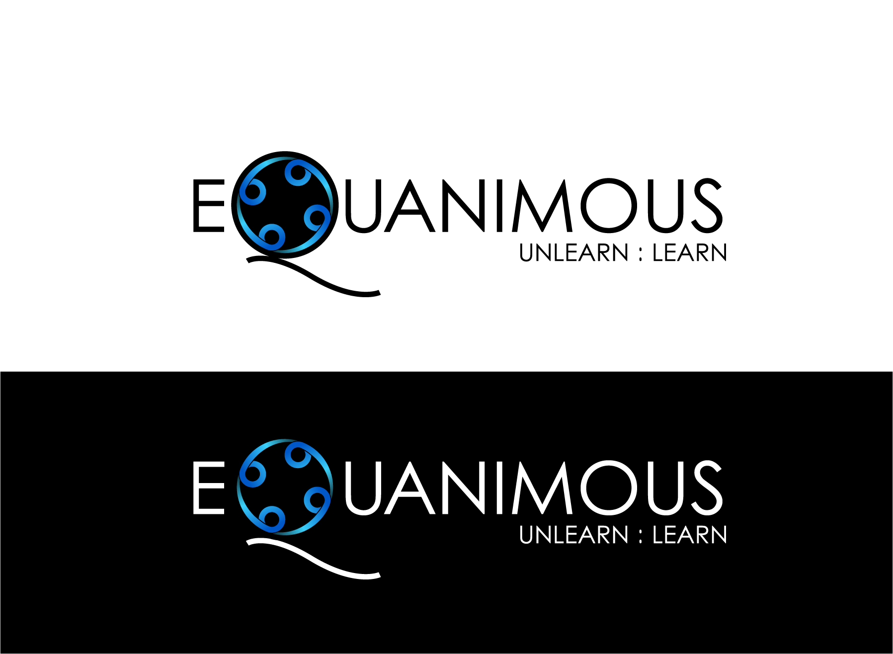 Logo Design by Wilfredo Mendoza - Entry No. 93 in the Logo Design Contest Logo Design : EQUANIMOUS : Productivity | Learning | Design.
