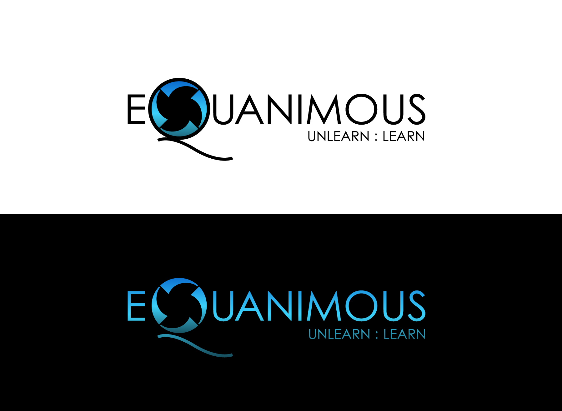 Logo Design by Wilfredo Mendoza - Entry No. 97 in the Logo Design Contest Logo Design : EQUANIMOUS : Productivity | Learning | Design.