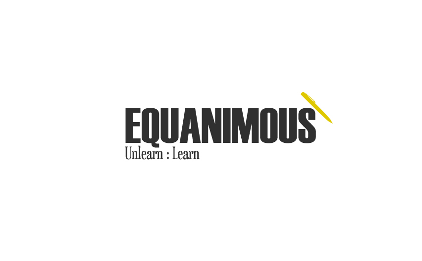 Logo Design by Tathastu Sharma - Entry No. 100 in the Logo Design Contest Logo Design : EQUANIMOUS : Productivity | Learning | Design.