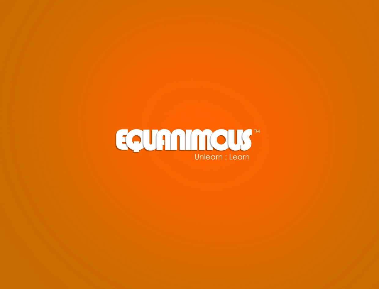 Logo Design by Tathastu Sharma - Entry No. 107 in the Logo Design Contest Logo Design : EQUANIMOUS : Productivity | Learning | Design.