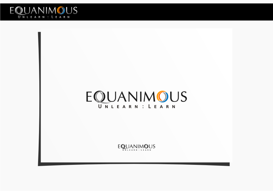 Logo Design by graphicleaf - Entry No. 117 in the Logo Design Contest Logo Design : EQUANIMOUS : Productivity | Learning | Design.