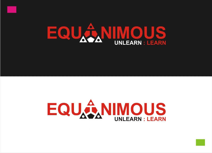 Logo Design by Private User - Entry No. 120 in the Logo Design Contest Logo Design : EQUANIMOUS : Productivity | Learning | Design.