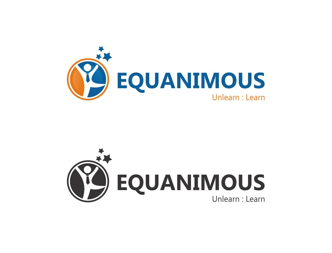 Logo Design by Muhammad Aslam - Entry No. 123 in the Logo Design Contest Logo Design : EQUANIMOUS : Productivity | Learning | Design.