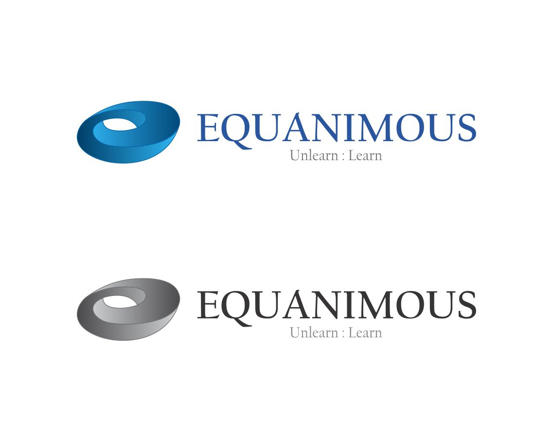 Logo Design by Muhammad Aslam - Entry No. 125 in the Logo Design Contest Logo Design : EQUANIMOUS : Productivity | Learning | Design.