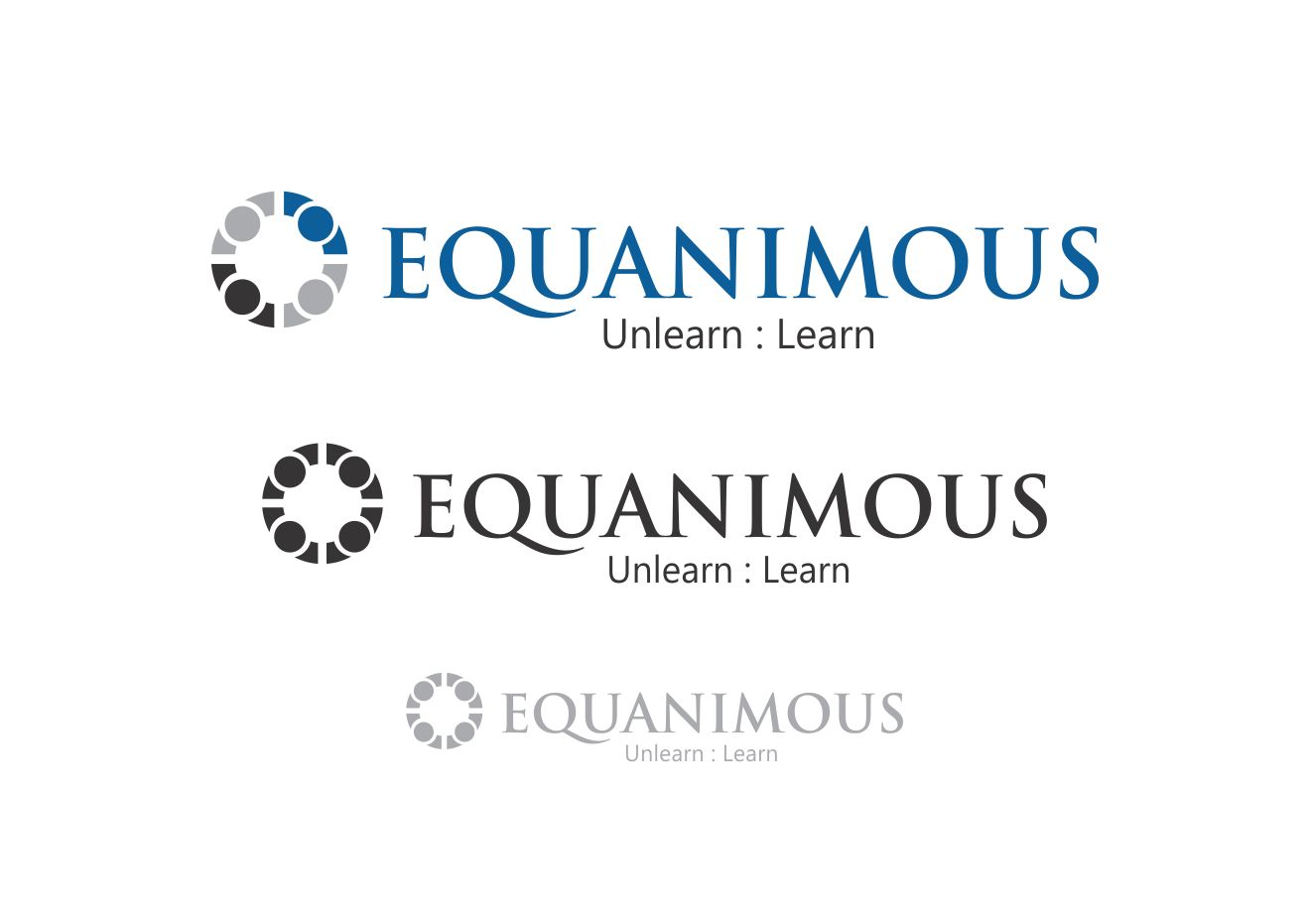 Logo Design by Muhammad Aslam - Entry No. 126 in the Logo Design Contest Logo Design : EQUANIMOUS : Productivity | Learning | Design.