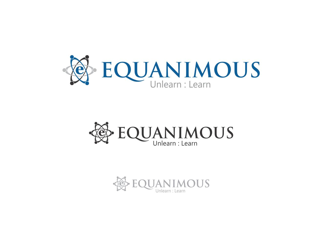 Logo Design by Muhammad Aslam - Entry No. 127 in the Logo Design Contest Logo Design : EQUANIMOUS : Productivity | Learning | Design.