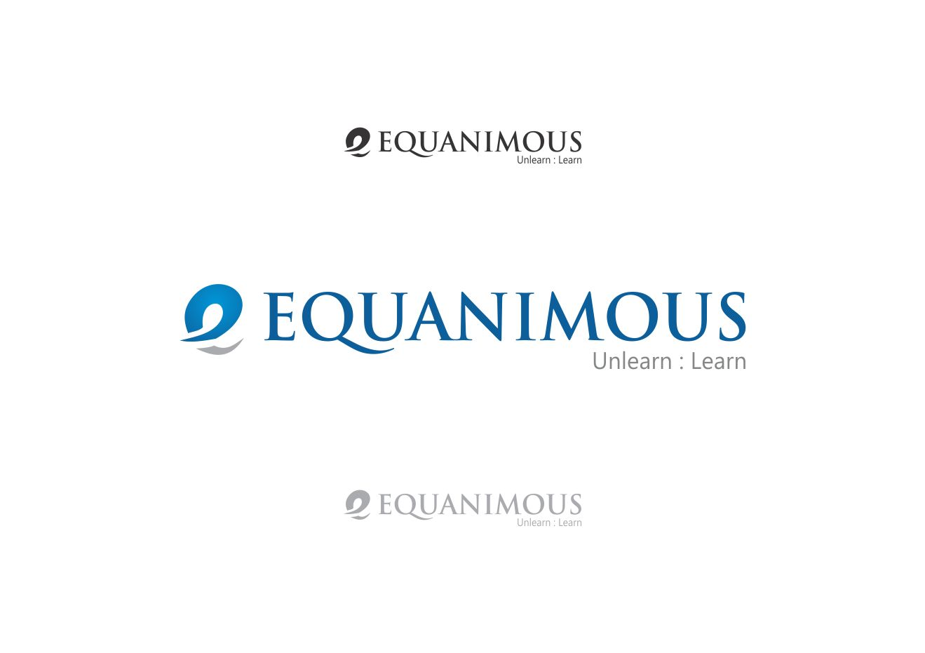 Logo Design by Muhammad Aslam - Entry No. 129 in the Logo Design Contest Logo Design : EQUANIMOUS : Productivity | Learning | Design.