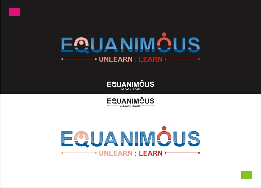 Logo Design by Private User - Entry No. 130 in the Logo Design Contest Logo Design : EQUANIMOUS : Productivity | Learning | Design.