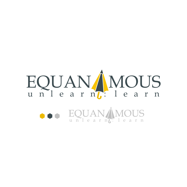 Logo Design by Think - Entry No. 135 in the Logo Design Contest Logo Design : EQUANIMOUS : Productivity | Learning | Design.
