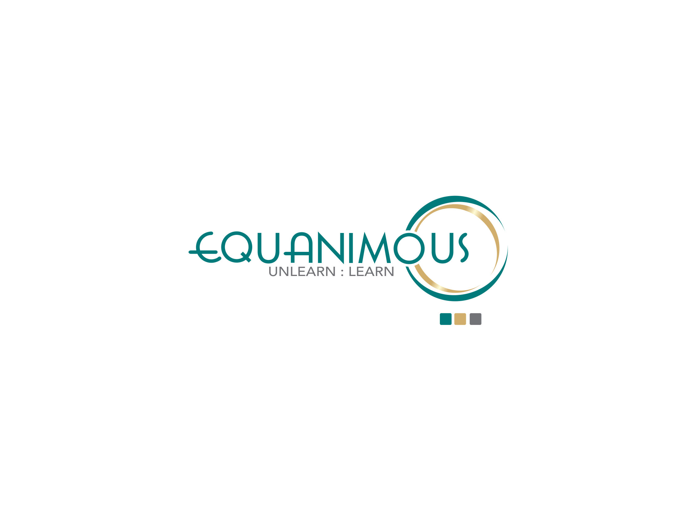 Logo Design by Private User - Entry No. 144 in the Logo Design Contest Logo Design : EQUANIMOUS : Productivity | Learning | Design.