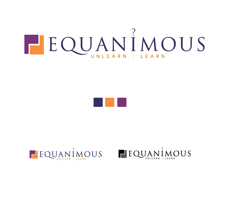 Logo Design by elmd - Entry No. 146 in the Logo Design Contest Logo Design : EQUANIMOUS : Productivity | Learning | Design.