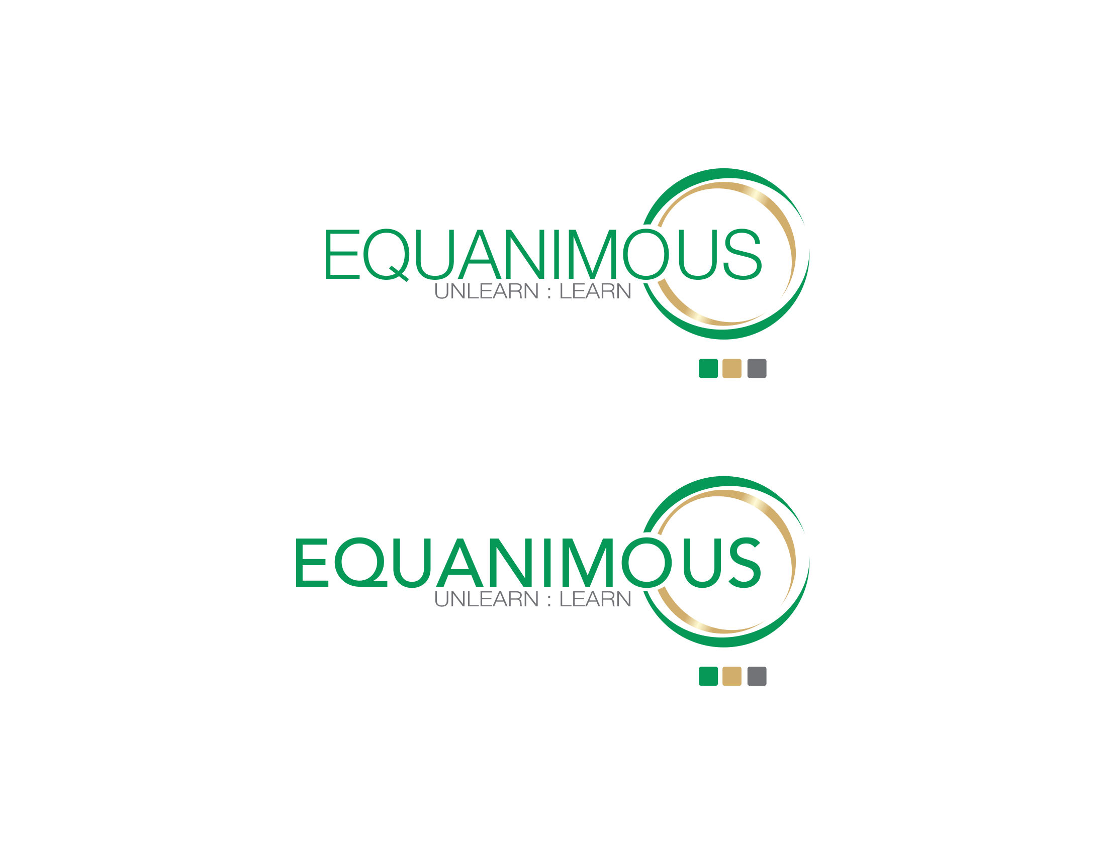 Logo Design by Private User - Entry No. 150 in the Logo Design Contest Logo Design : EQUANIMOUS : Productivity | Learning | Design.
