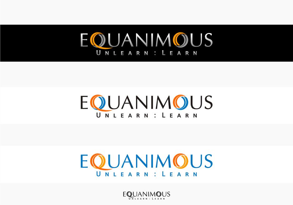 Logo Design by Muhammad Nasrul chasib - Entry No. 154 in the Logo Design Contest Logo Design : EQUANIMOUS : Productivity | Learning | Design.