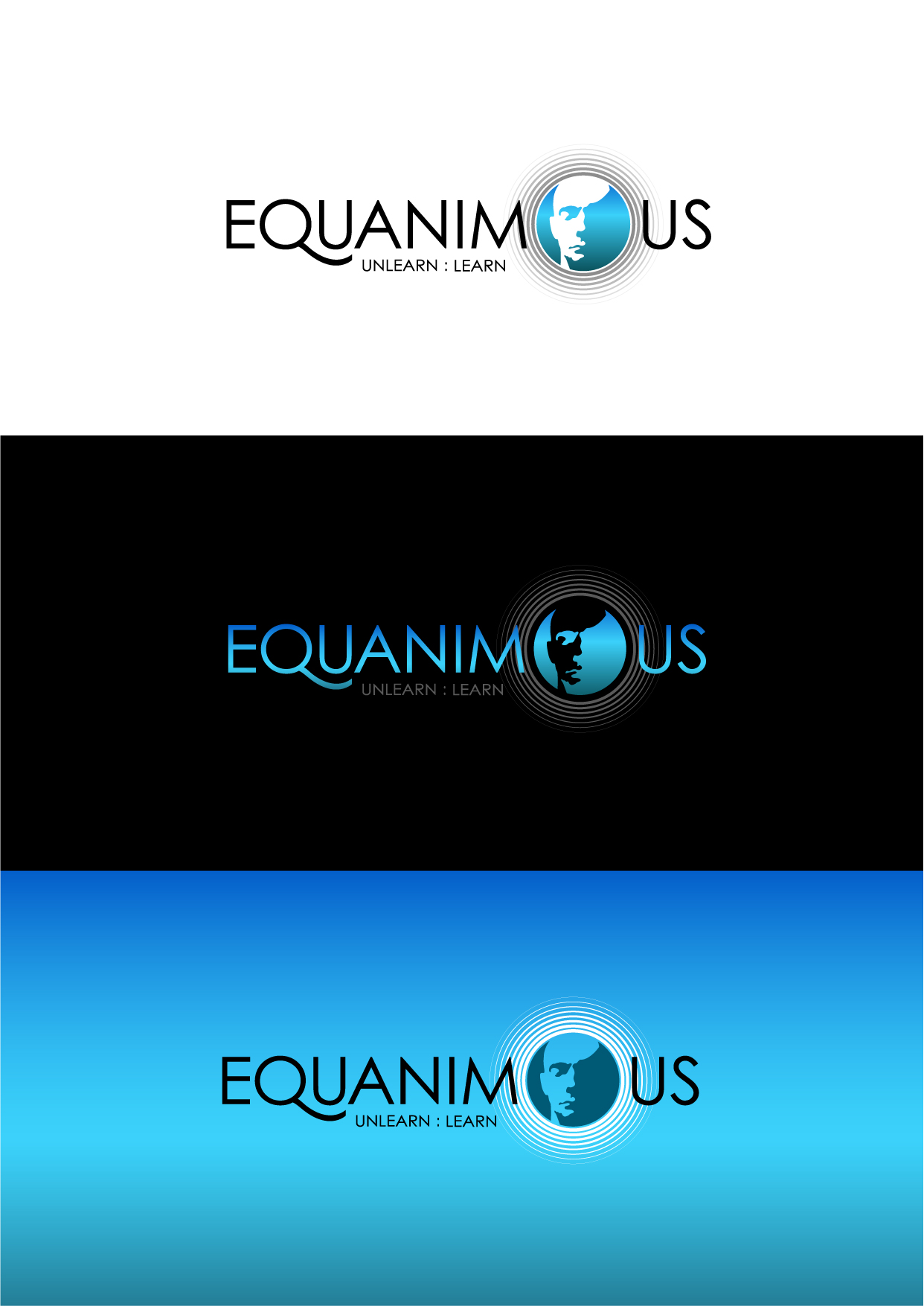 Logo Design by Wilfredo Mendoza - Entry No. 165 in the Logo Design Contest Logo Design : EQUANIMOUS : Productivity | Learning | Design.