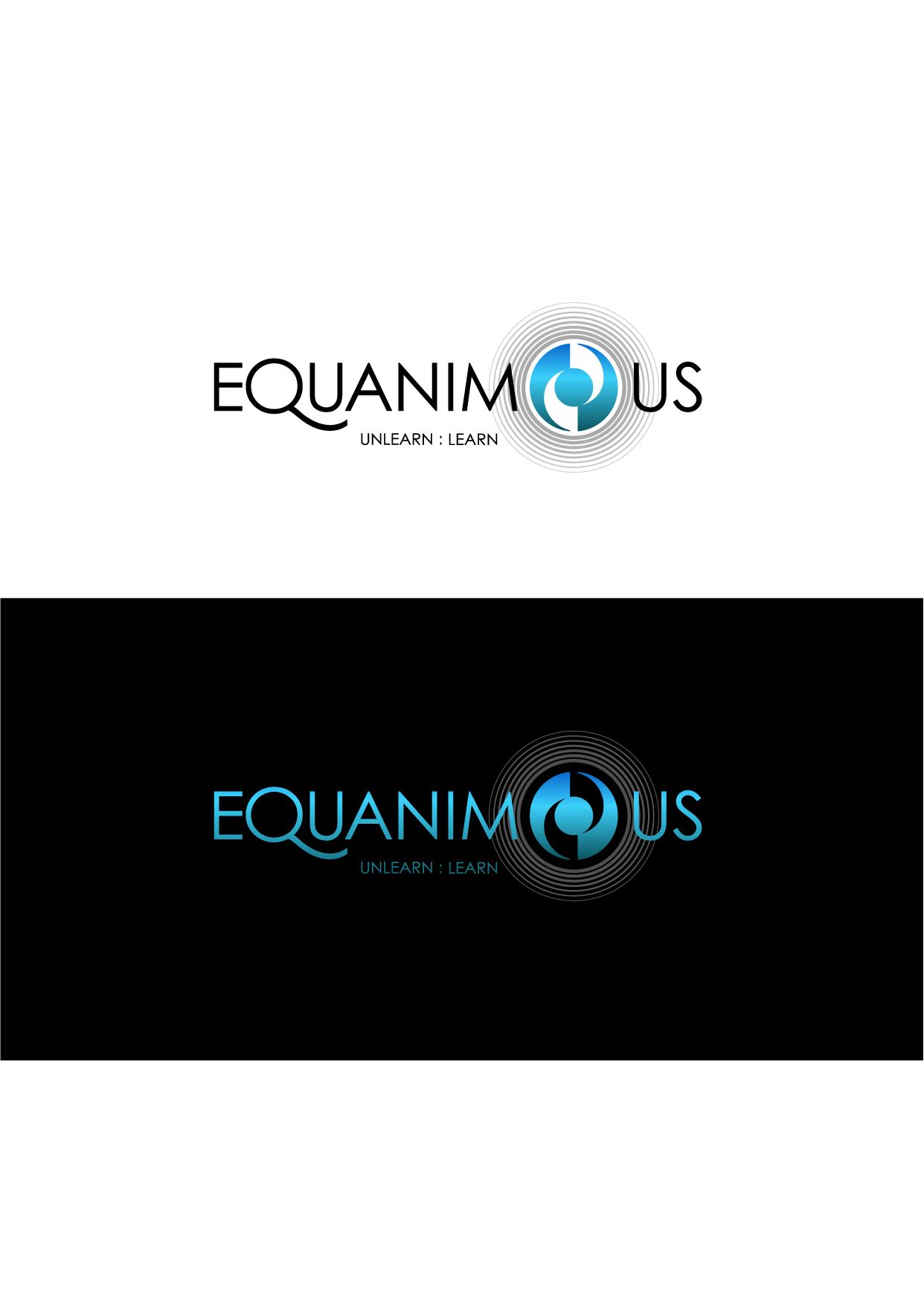 Logo Design by Wilfredo Mendoza - Entry No. 167 in the Logo Design Contest Logo Design : EQUANIMOUS : Productivity | Learning | Design.
