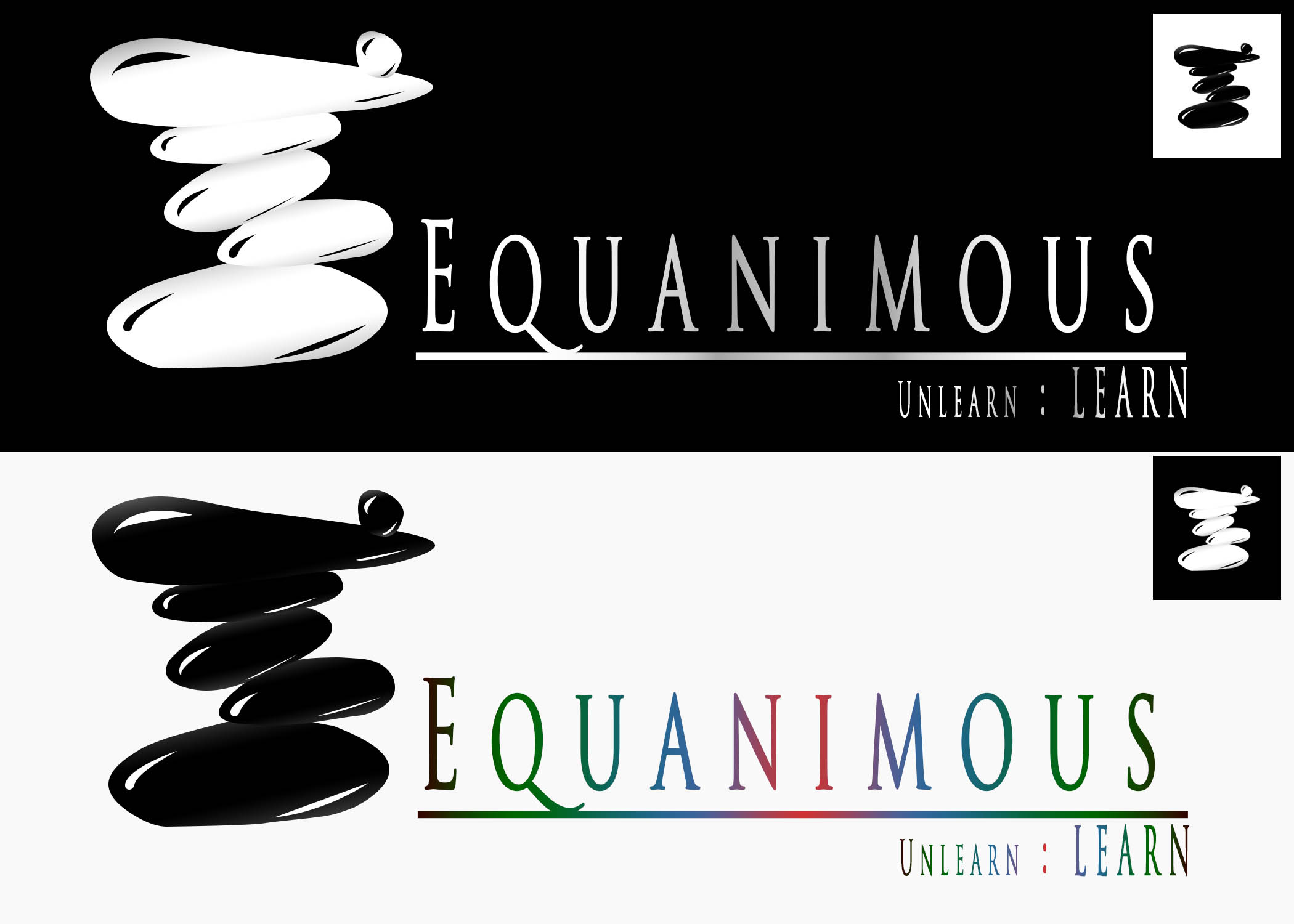 Logo Design by Private User - Entry No. 219 in the Logo Design Contest Logo Design : EQUANIMOUS : Productivity | Learning | Design.