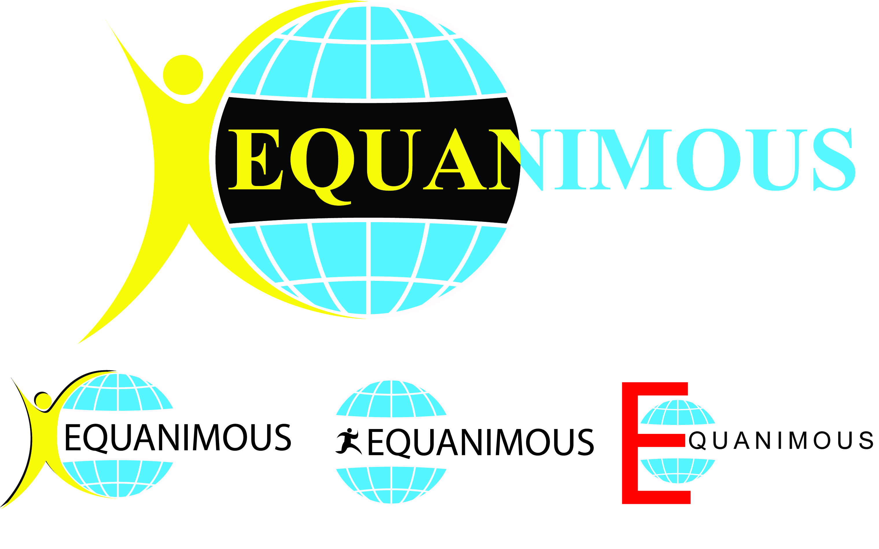 Logo Design by Private User - Entry No. 226 in the Logo Design Contest Logo Design : EQUANIMOUS : Productivity | Learning | Design.