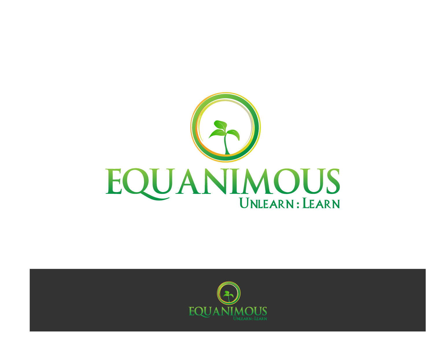 Logo Design by 3draw - Entry No. 227 in the Logo Design Contest Logo Design : EQUANIMOUS : Productivity | Learning | Design.