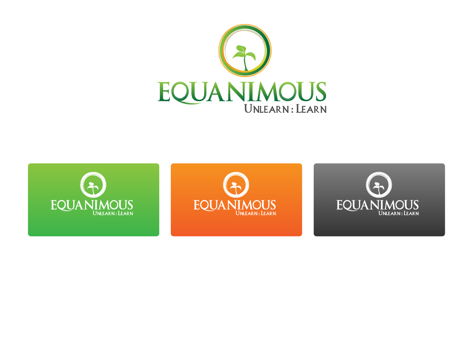 Logo Design by 3draw - Entry No. 235 in the Logo Design Contest Logo Design : EQUANIMOUS : Productivity | Learning | Design.