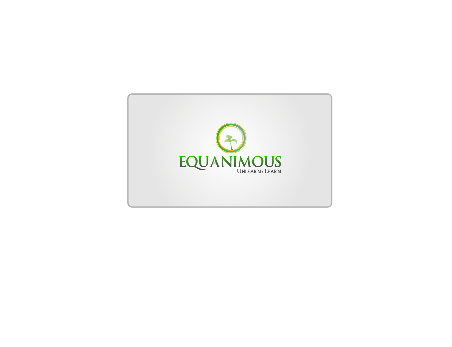 Logo Design by 3draw - Entry No. 239 in the Logo Design Contest Logo Design : EQUANIMOUS : Productivity | Learning | Design.