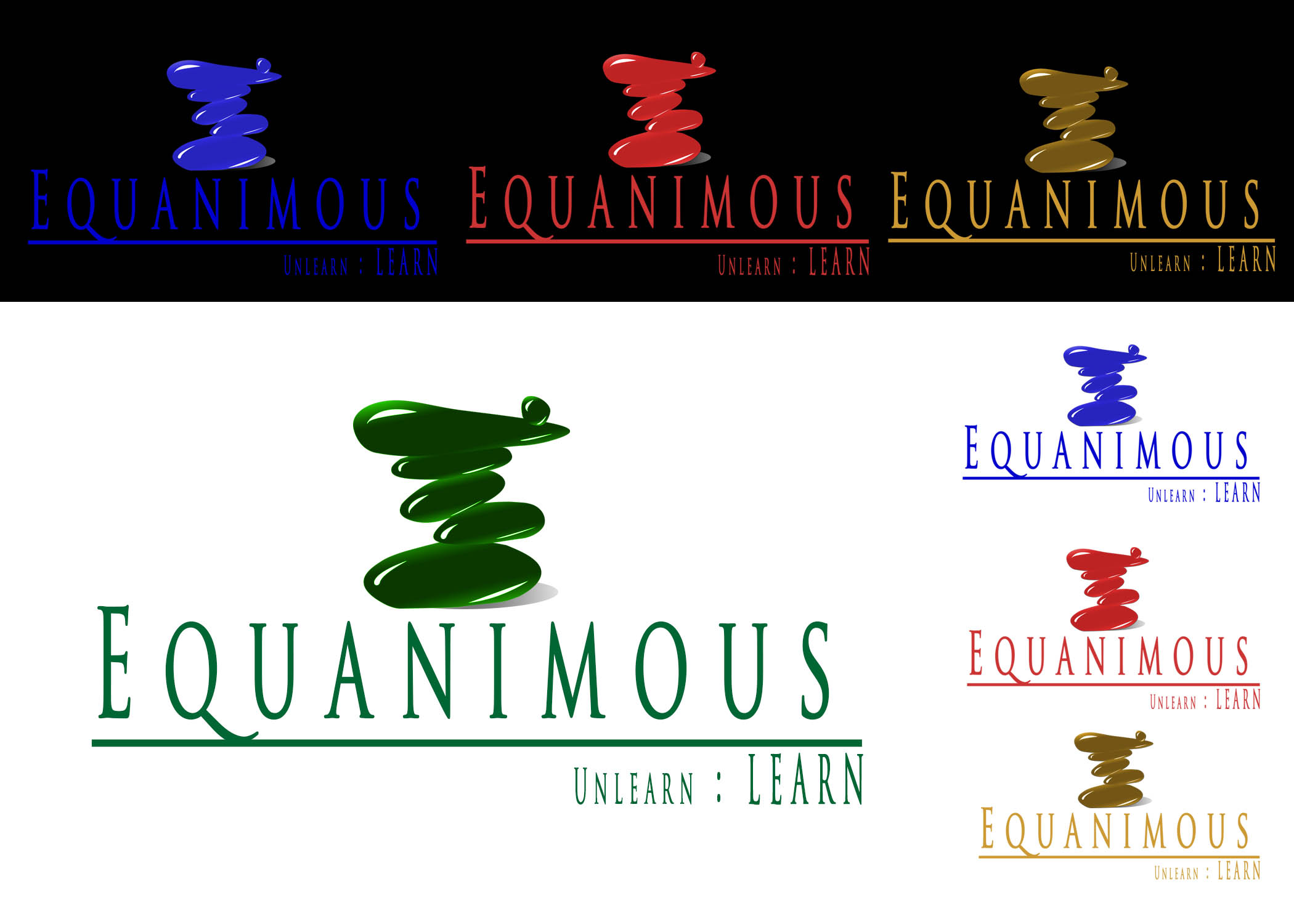 Logo Design by Private User - Entry No. 248 in the Logo Design Contest Logo Design : EQUANIMOUS : Productivity | Learning | Design.