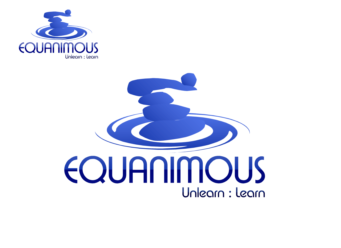 Logo Design by Private User - Entry No. 260 in the Logo Design Contest Logo Design : EQUANIMOUS : Productivity | Learning | Design.