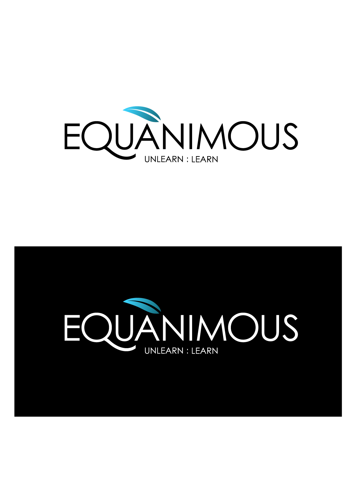 Logo Design by Wilfredo Mendoza - Entry No. 281 in the Logo Design Contest Logo Design : EQUANIMOUS : Productivity | Learning | Design.