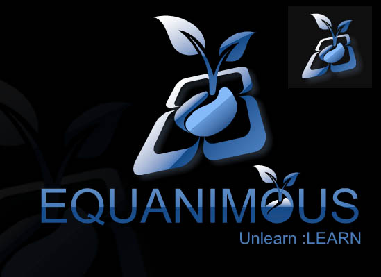 Logo Design by Private User - Entry No. 288 in the Logo Design Contest Logo Design : EQUANIMOUS : Productivity | Learning | Design.