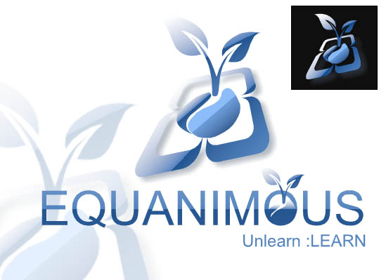 Logo Design by Private User - Entry No. 289 in the Logo Design Contest Logo Design : EQUANIMOUS : Productivity | Learning | Design.