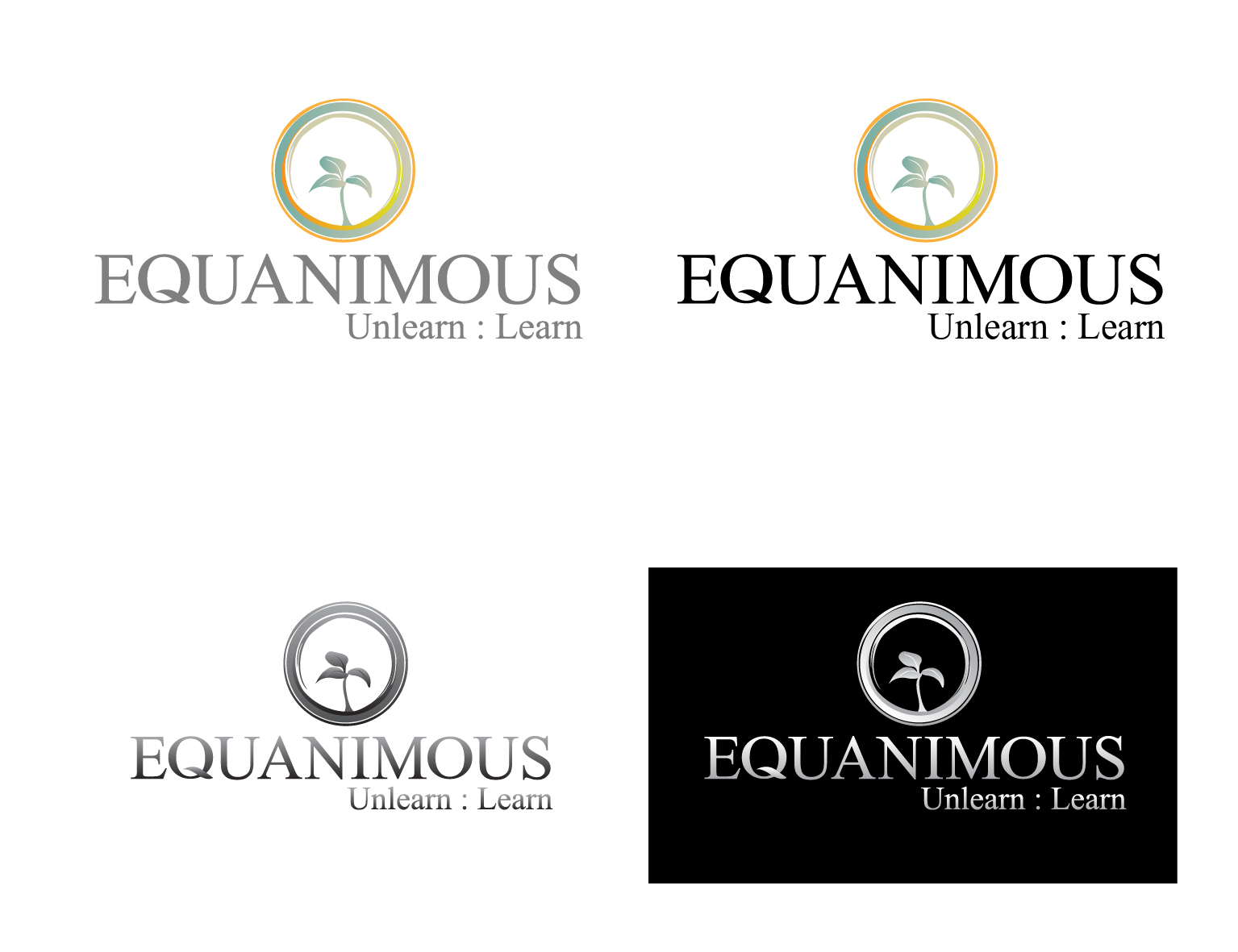Logo Design by 3draw - Entry No. 292 in the Logo Design Contest Logo Design : EQUANIMOUS : Productivity | Learning | Design.