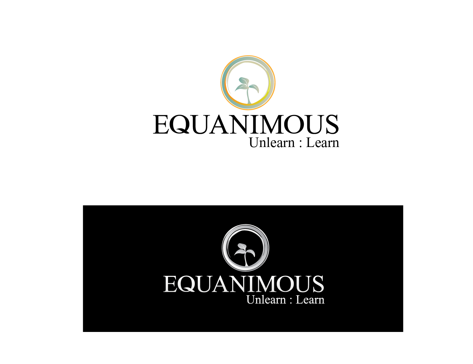 Logo Design by 3draw - Entry No. 294 in the Logo Design Contest Logo Design : EQUANIMOUS : Productivity | Learning | Design.
