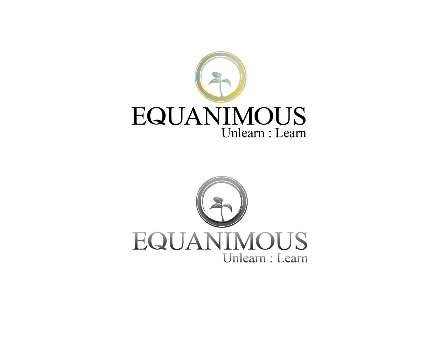 Logo Design by 3draw - Entry No. 295 in the Logo Design Contest Logo Design : EQUANIMOUS : Productivity | Learning | Design.