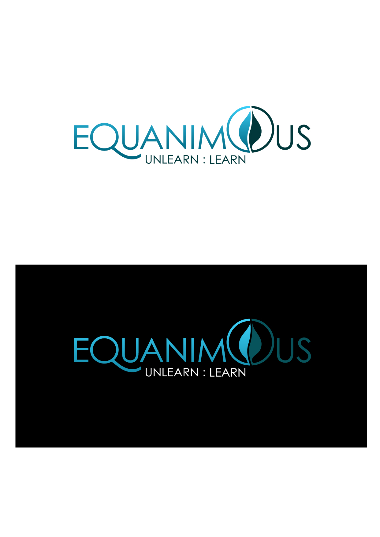 Logo Design by Wilfredo Mendoza - Entry No. 309 in the Logo Design Contest Logo Design : EQUANIMOUS : Productivity | Learning | Design.