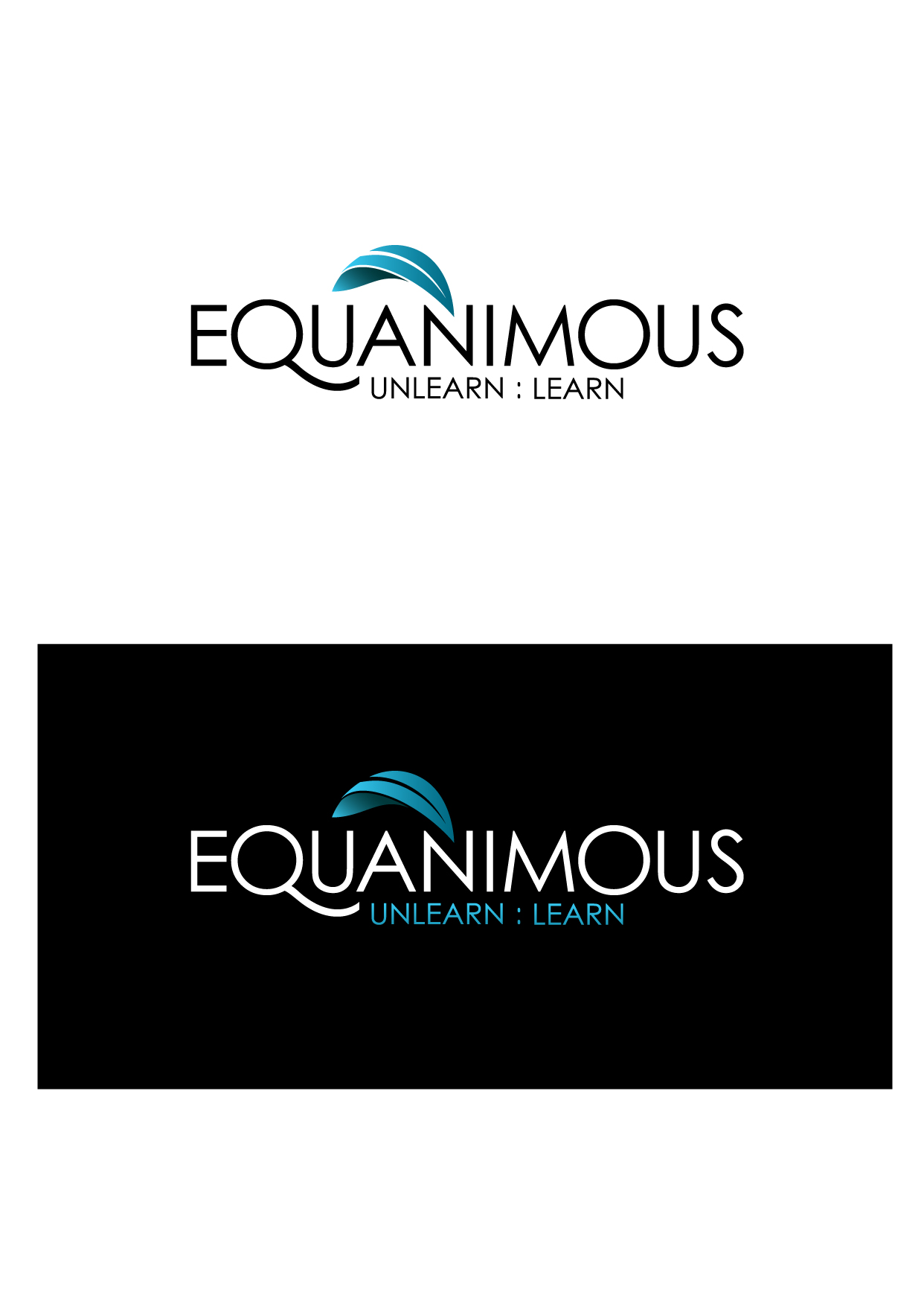 Logo Design by Wilfredo Mendoza - Entry No. 311 in the Logo Design Contest Logo Design : EQUANIMOUS : Productivity | Learning | Design.