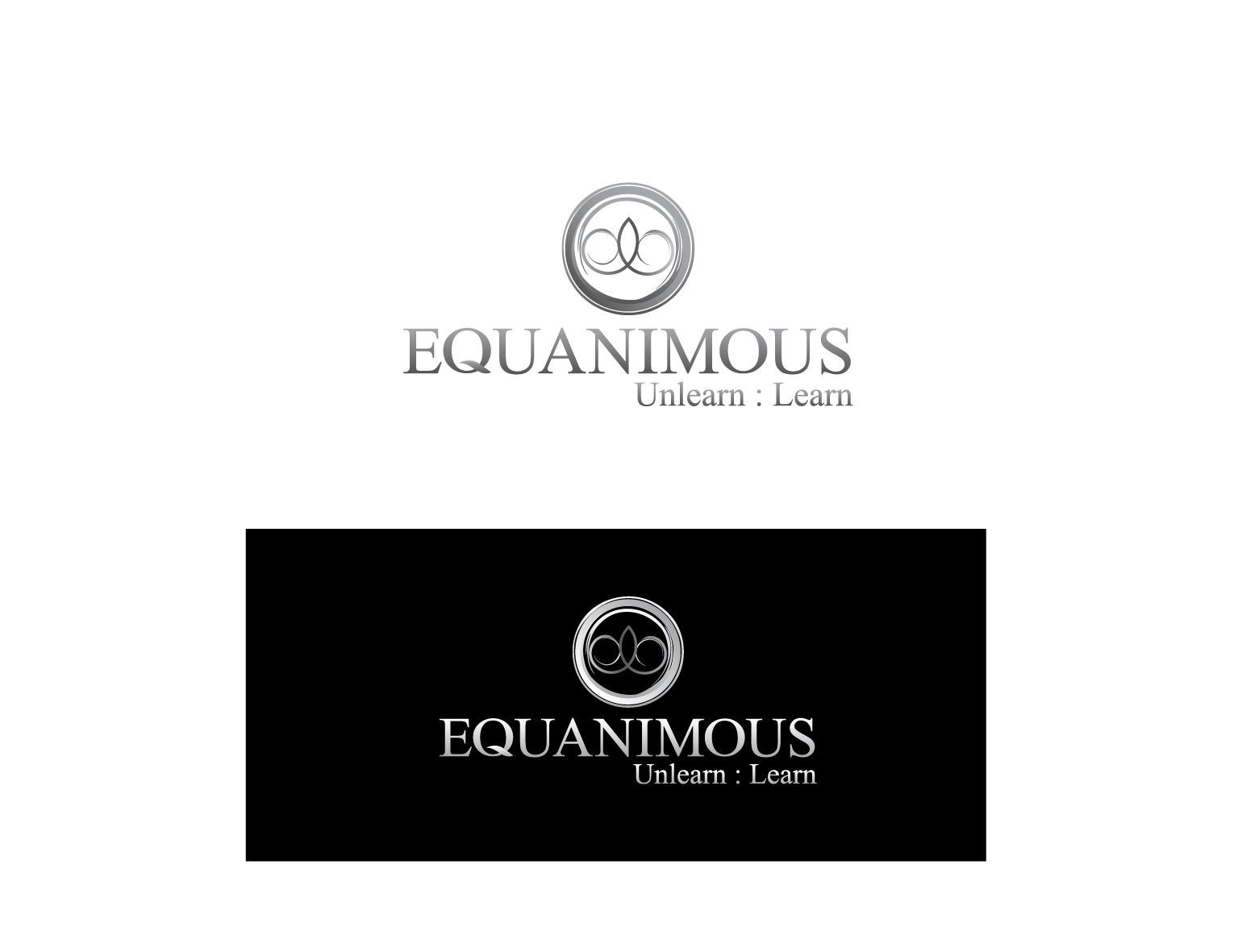 Logo Design by 3draw - Entry No. 324 in the Logo Design Contest Logo Design : EQUANIMOUS : Productivity | Learning | Design.
