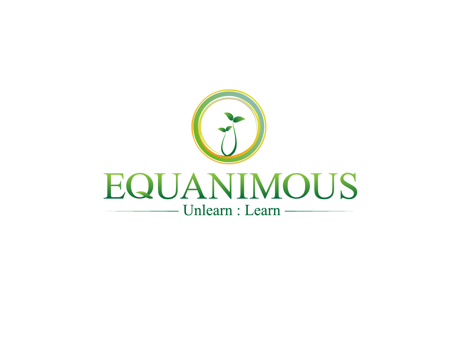 Logo Design by 3draw - Entry No. 326 in the Logo Design Contest Logo Design : EQUANIMOUS : Productivity | Learning | Design.