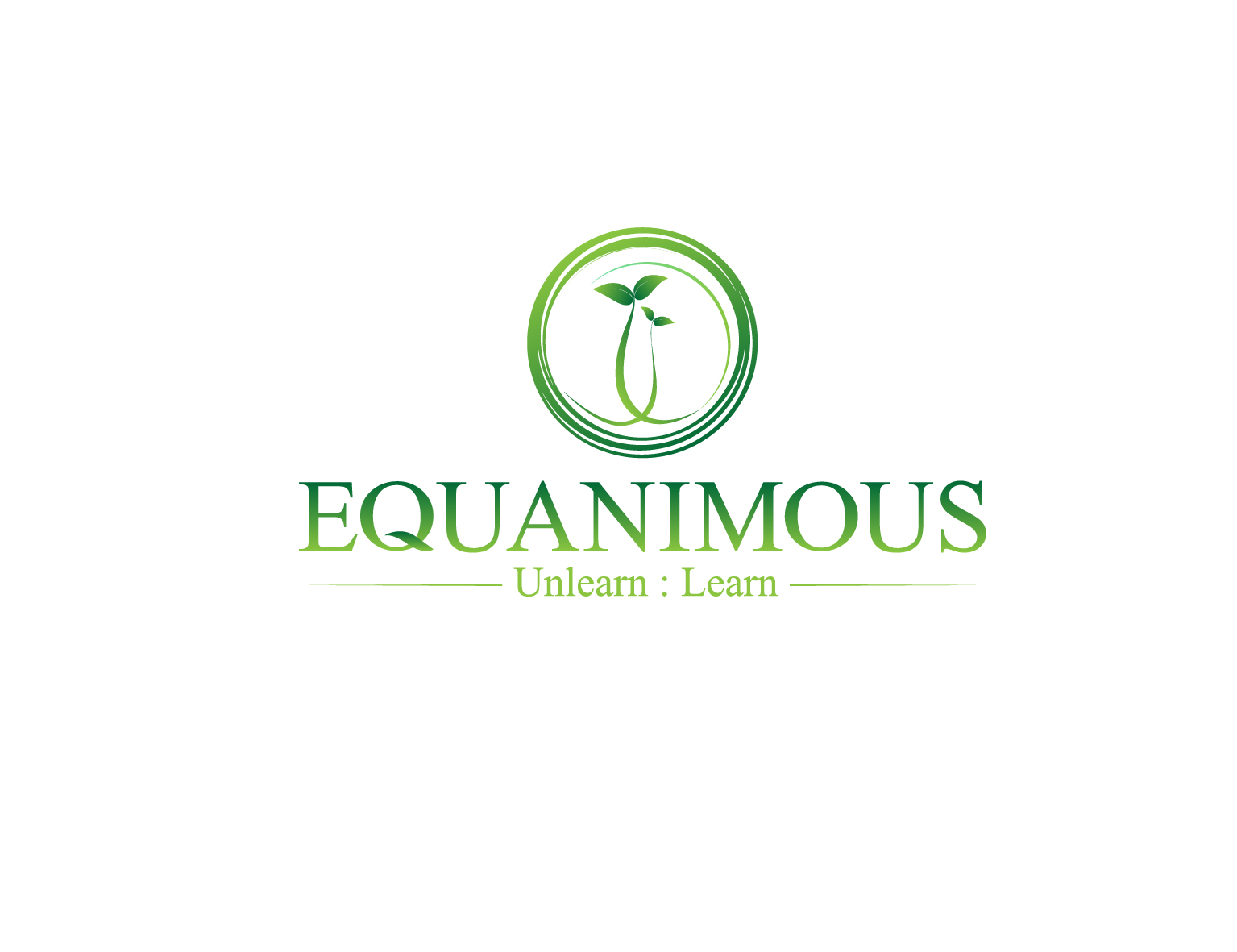 Logo Design by 3draw - Entry No. 336 in the Logo Design Contest Logo Design : EQUANIMOUS : Productivity | Learning | Design.