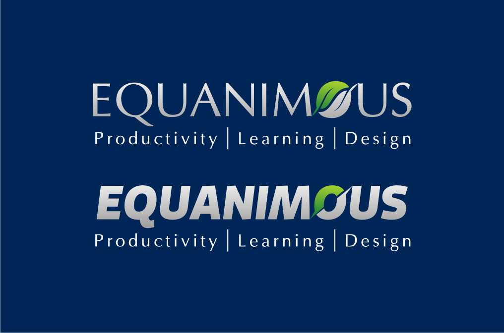 Logo Design by graphicleaf - Entry No. 340 in the Logo Design Contest Logo Design : EQUANIMOUS : Productivity | Learning | Design.