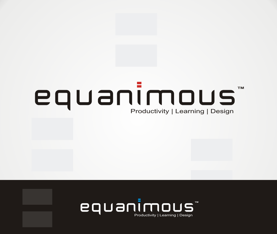 Logo Design by Joe Teach - Entry No. 343 in the Logo Design Contest Logo Design : EQUANIMOUS : Productivity | Learning | Design.