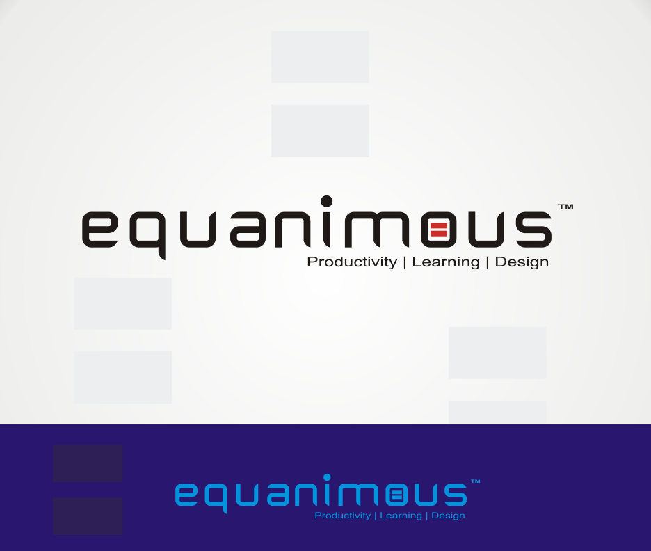 Logo Design by Joe Teach - Entry No. 344 in the Logo Design Contest Logo Design : EQUANIMOUS : Productivity | Learning | Design.