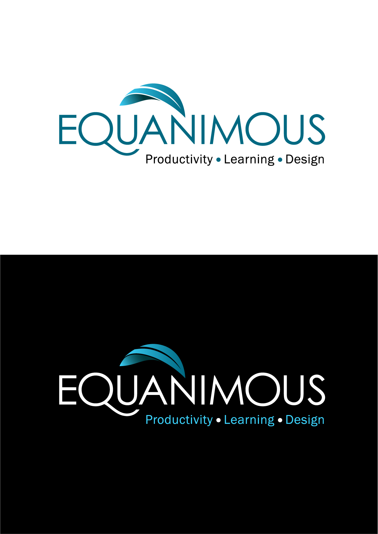 Logo Design by Wilfredo Mendoza - Entry No. 348 in the Logo Design Contest Logo Design : EQUANIMOUS : Productivity | Learning | Design.
