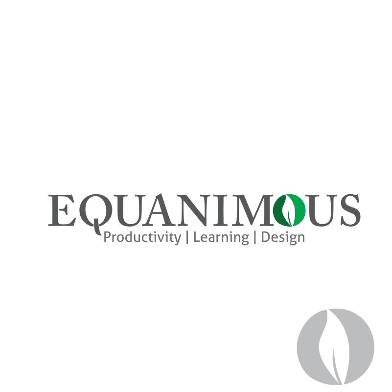 Logo Design by moisesf - Entry No. 349 in the Logo Design Contest Logo Design : EQUANIMOUS : Productivity | Learning | Design.