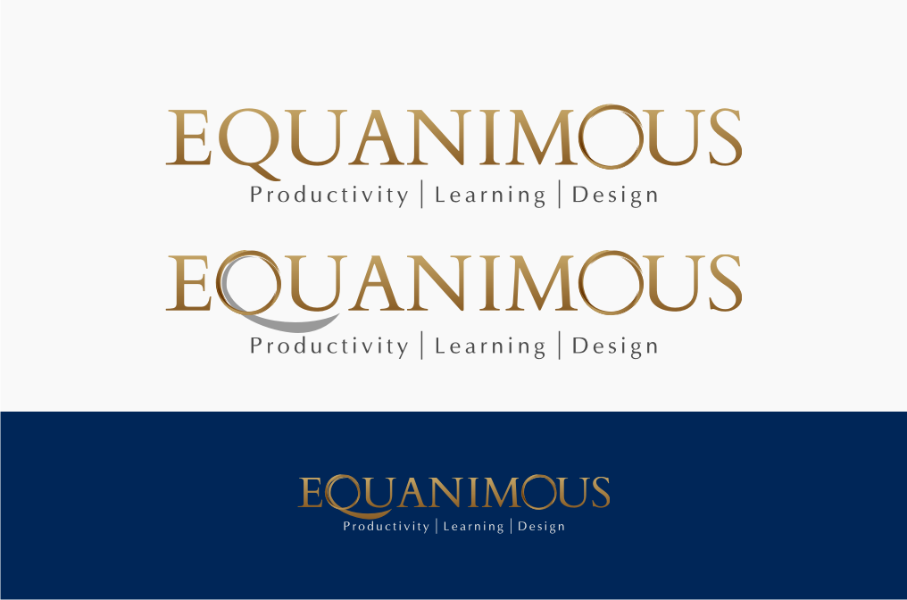 Logo Design by graphicleaf - Entry No. 354 in the Logo Design Contest Logo Design : EQUANIMOUS : Productivity | Learning | Design.