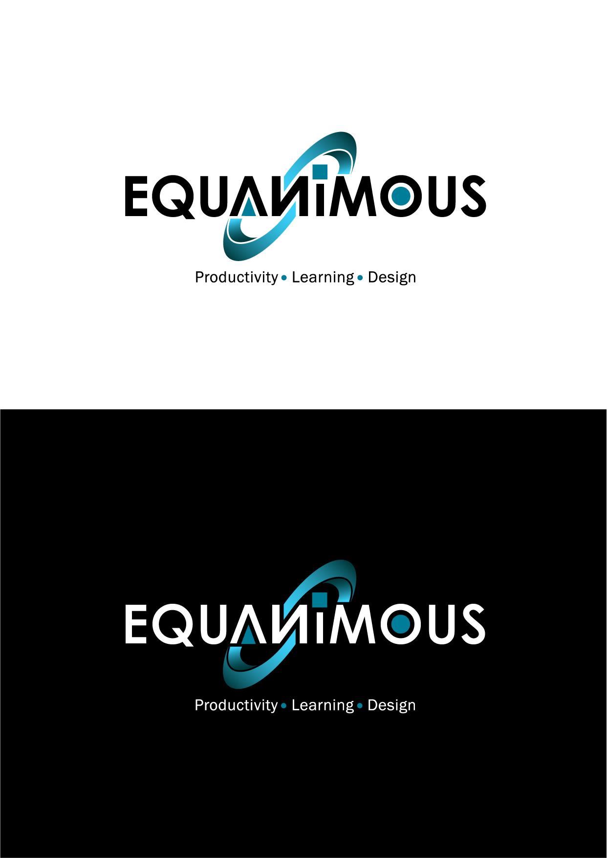 Logo Design by Wilfredo Mendoza - Entry No. 362 in the Logo Design Contest Logo Design : EQUANIMOUS : Productivity | Learning | Design.